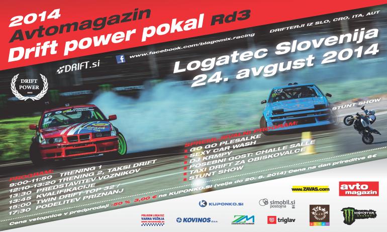 DRIFTPOWER – Avtomagazin POKAL 3rd, LOGATEC, 24. AVGUST 2014