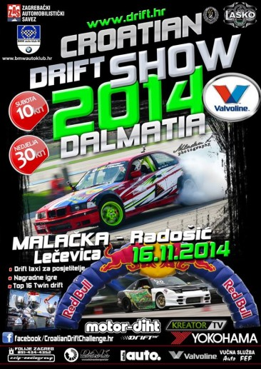 **CROATIAN DRIFT SHOW DALMATIA 2014, 22-23.11.2014.**