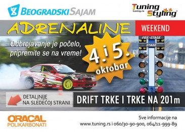 4. in 5.10.2014 na Beograjskem sejmu DRIFT RACE