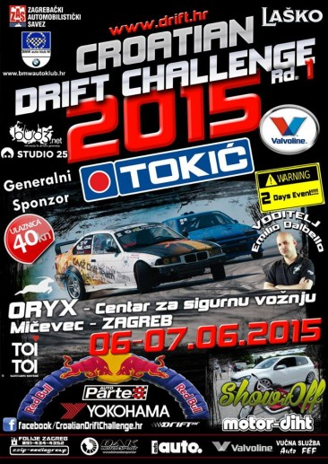 CROATIAN DRIFT CHALLENGE 2015 Rd.1 6-7.6.2015